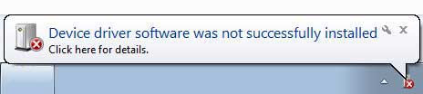 Android windows device driver installation failed