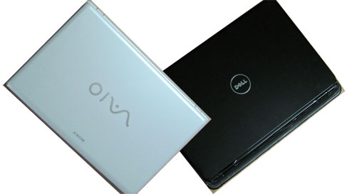 Compare dell inspiron laptop with sony vaio laptop