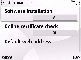 E63 app manager settings after for installing ssh