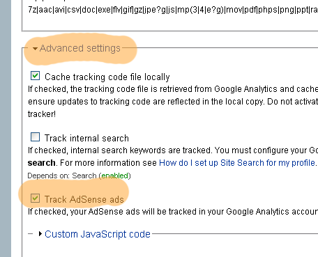 Google Analytics drupal module settings