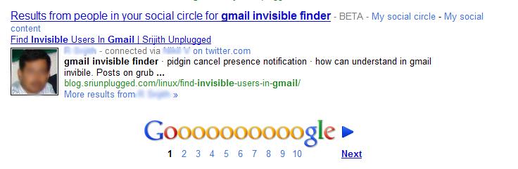 Google Social Results