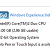 Windows 7 showing Different Installed (4 GB) and Usable Memory (2.96 GB)