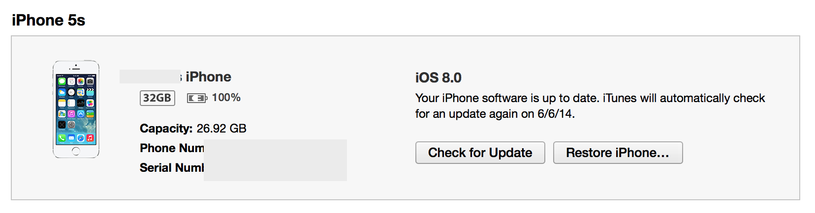 iOS 8 installation