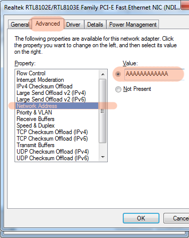 Advanced Network Properties Windows 7