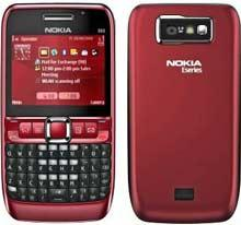 Nokia E63 looks front and back