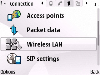 Nokia E series wireless LAN Settings