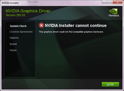 Update Nvidia drivers on Sony Vaio