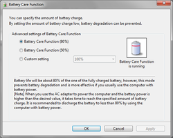 How to Enable/Disable Battery care function on Sony Vaio to improve Battery life.