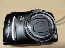 Canon SX120IS Front View