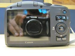 Canon SX130IS Back View