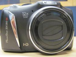 Canon SX130IS Front View