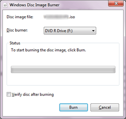 How to burn ISO files on Windows 7