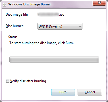 Windows 7 ISO Burner